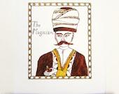 "Arabian Nights Nursery Art Print - ""The Magician"""