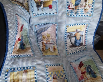 SALE, Bath time baby quilt/Patchwork