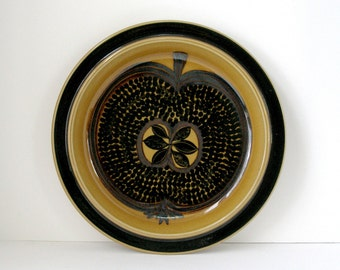 "60s Arabia Finland Fructus 13"" Charger Gunvor Olin-Grönqvist 13"" Chop Plate Large Round Platter Mid Century Danish Modern Organic"