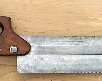 Antique Fine HENRY DISSTON & Sons 1920s Very Rare Duplex Back Saw No. 14 Stickley Furniture Craftsman, White Mountains, NH