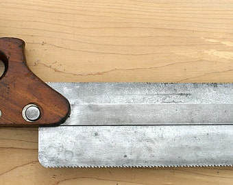Antique very rare Duplex Back Saw No 14 By HENRY DISSTON & Sons Stickley Furniture Craftsman