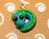 Teal Dragon Charm
