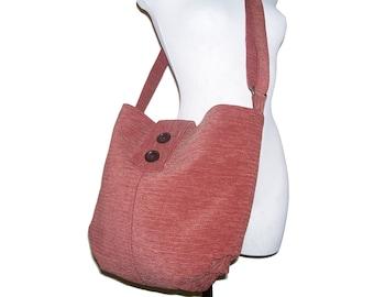 56- bag, purse, red - brown, large, handmade