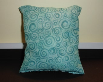catnip pillow cat toy - teal spirals