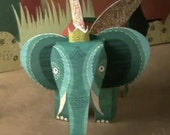 Elephant King: Flat to Flight DIY Paper Craft