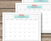 Printable 2015 Monthly Calendar  - January to December 2015