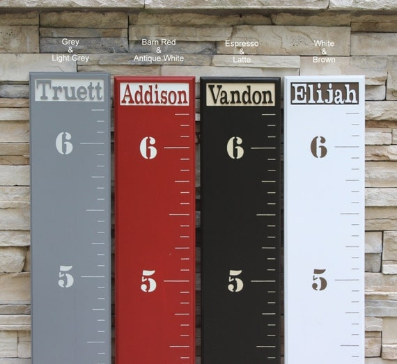 Wooden Ruler Growth Chart For Children With A By LightFilled