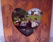 Painted Heart Frame, Heart Wood Picture Frame, Heart Frame, Painted Picture Frame, OFG Team