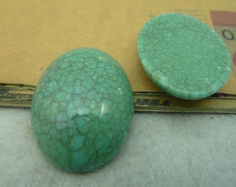 10PCS turquoise oval resin cabochon 30x40mm- W C3933