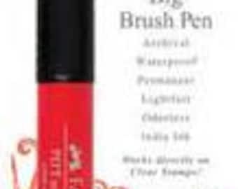 Stampers Big Pitt Pen  Scarlett Red,  Faber-Castell