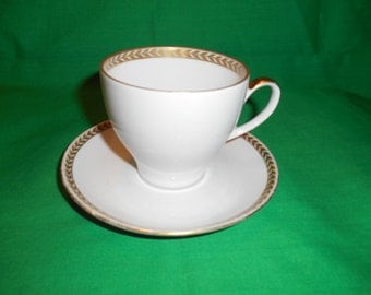 One (1), Porcelain, Flat Tea Cup and Saucer, from Kahla, of Germany.