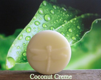 Coconut Creme 2 oz Organic Solid Lotion Bar Pocket Size - 100% Natural