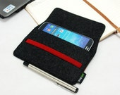 Felt Samsung Galaxy s3 S4 S5 S6 Note 4 Note2 Note 3 Case Cover Sleeve Wallet iPhone 6 Plus iPhone 6 5 5s 5c 4s Case Custom Made E1165-DGra01