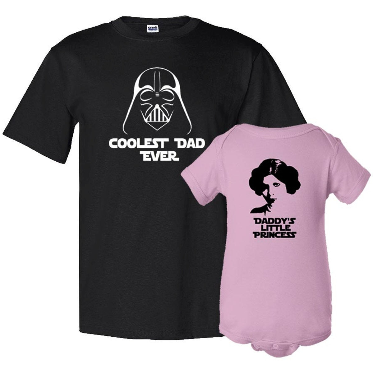 coolest dad ever and daddyu0027s litle princess father tshirt daughter bodysuit matching set first