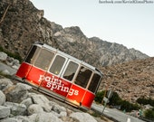 Palm Springs California photography print - photograph, red tram