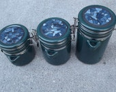 Reserved Mosaic Upscaled Canister Set of Three