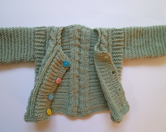 New baby gift,Knit baby cardigan,baby boy sweater,, Free Shipping