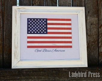4th of July Printable - American Flag - Instant Download - PDF