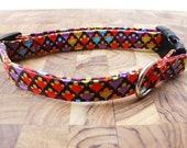 Multi Colored Charm Print Dog Collar ( Cat - XL )