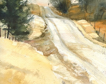 Vassmer's Road, Before the First Snow- print