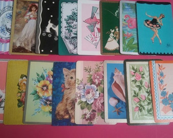 lot of 16 vintage playing cards  (2-109)