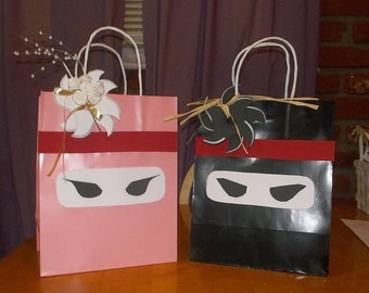 Ninja Party Gift Bags for both Boys and Girls