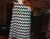Black Chevron Pumpkin Dress/Jumper
