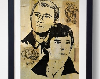 The Heart & The Brain - Sherlock and Watson Print