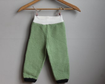 Wool Longies, Wool Pants, 6-12 month longies