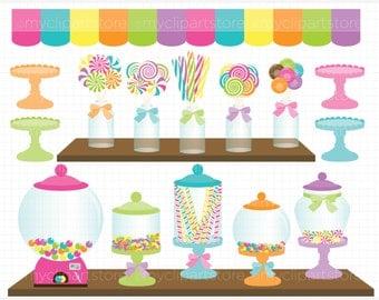 Clipart - Candy Shoppe - Digital Clip Art (Instant Download)