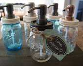 Mason Jar Soap Dispenser  <3