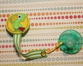 Rio the Soothie Parrot Pacifier Clip