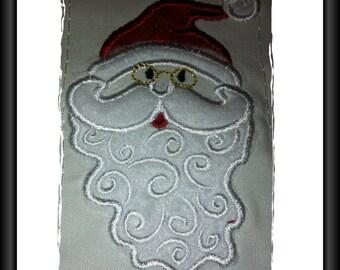 Santa Applique Design for Machine Embroidery 4 x 4