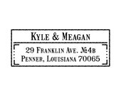 Authentic Return Address Stamper  - Western Custom Self Inking Stamp