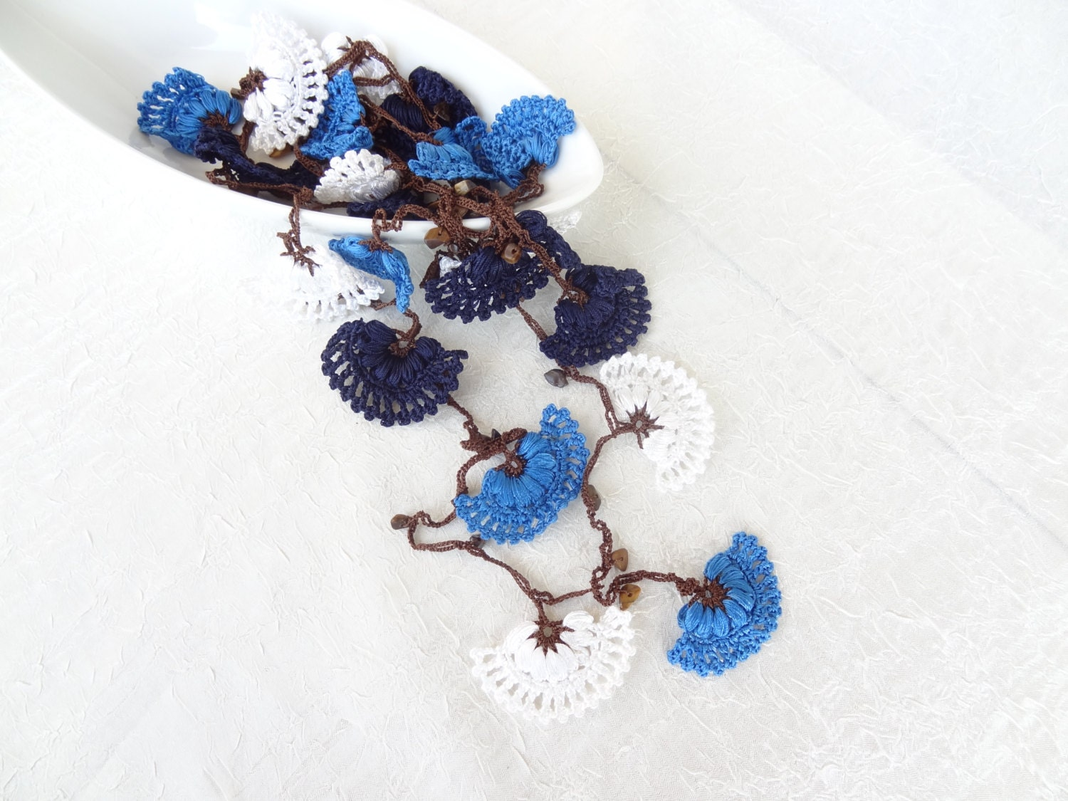 traditional crochet necklace turkish by sevinchjewelry on etsy