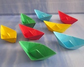 paper sailboat origami decoration party table favor lot of 48 small origami boats