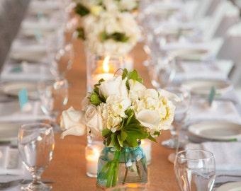 "Burlap Table Runner - 12"" wide by 5 feet long Premium Natural Burlap - Holiday - Wedding or Party -  burlap runners"