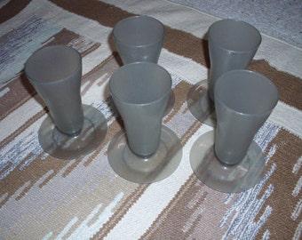 Tupperware Smoke Grey Parfait Dessert Cups 754 Set of 5