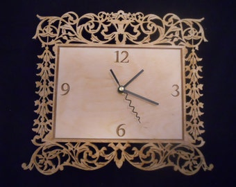 Wall Clock Custom made- intricate design