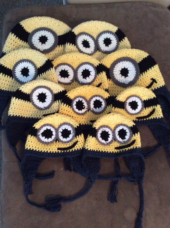Free Shipping in Canada, Crochet Minion Hat, infant to child, cotton yarn