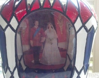SALE Crown Royal Whisky Bottle Wedding Prince William and Kate Duchess of Cambridge Crown Royal Glass Bottle