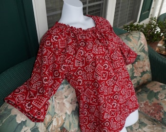 Womens Plus size  peasant style top