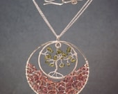 Tree of Life with peridot & andalusite Necklace 284