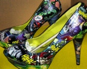 Batman Good vs. Evil Custom Shoe