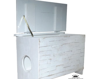 White Kitty litter locker, Cat Furniture, On Sale Now reg 249.00