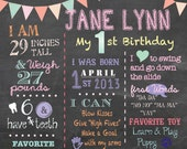Chalkboard Birthday Sign
