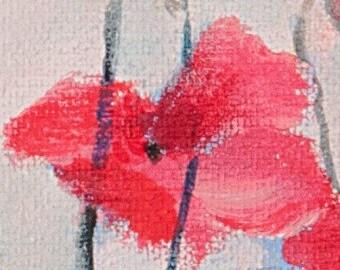 Poppy Fine Art Gift Card 4x4 inches