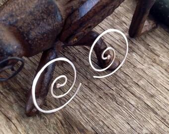 Vertigo Swirl Sterling Silver 19g earrings