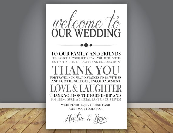 AddOn Thank You Note Wedding Program Add On Guest Thank