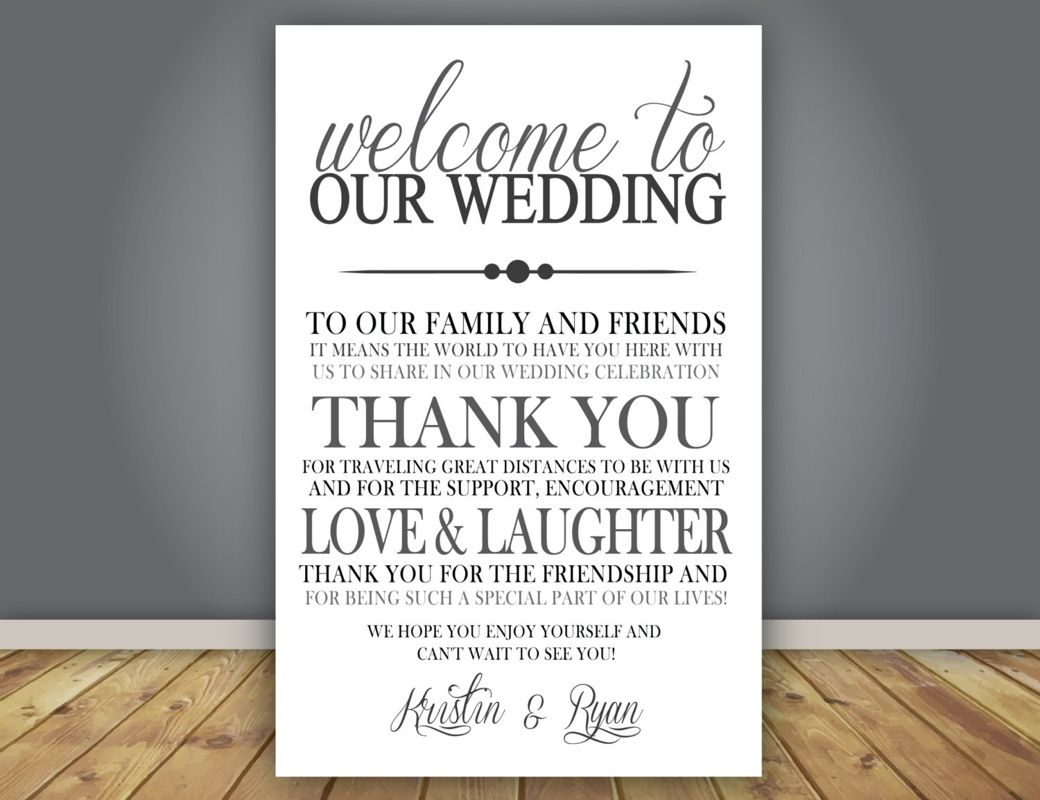 Thank You Wording For Wedding Gift: ADD-ON Thank You Note Wedding Program Add On Guest Thank
